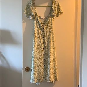 Lemon print maxi dress